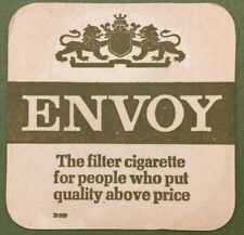 Vintage Envoy Filter Cigarettes Beer Mat