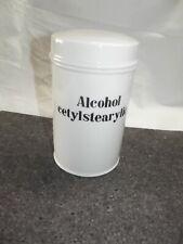 Porzellan Dose Apotheke Apothekengefäss Alcohol cetylstearylic