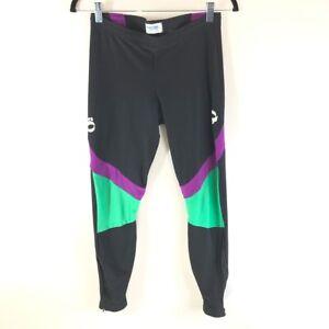 Pearl Izumi Technical Wear Womens Cycling Pants Black Green Pull On Stretch M