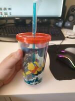 Disney Store Authentic Winnie the Pooh Lg.Tumbler Cup w/Straw New vintage rare