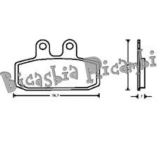 5556 - PASTIGLIE FRENO ANTERIORI MOTO MORINI 350 501 EXCALIBUR CANGURO CAMEL BIC