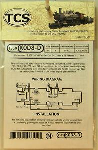 NEW N TCS #1339 K0D8-D Drop In Decoder for Kato B Unit Locos