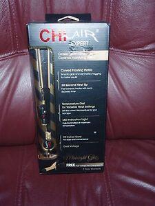 CHI air Expert Classic  Gold & Black Stripe Hot iron W/ FREE Mini Curling Iron