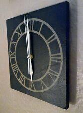 Slate Wall Clock - Laser Engraved Face - Quartz Movement