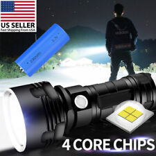 Super bright 90000lm Flashlight LED P70 Tactical Torch +26650 battery Camping