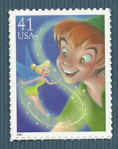 Peter Pan and Tinker Bell Walt Disney US Stamp of Animated Movie MINT CONDITION!