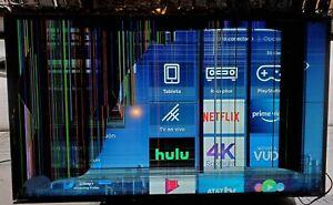 "TCL 43S403 43"" 4K LED Roku Smart TV, cracked LCD - Black"