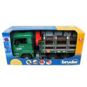 1/16 MAN TG 410A Logging Truck with Crane and 3 Logs By Bruder 2769