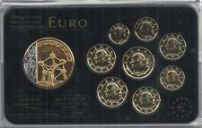 belgien Euro Prestige Coinset, Gold & Rhodium, 24 Karat Gold, Neu, OVP, SELTEN