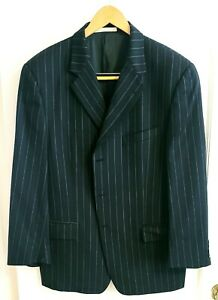 Joseph Abboud Men's Navy Blue Chalk Stripe 2pc Suit Wool 42S