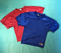 Nike Nylon Blank Football Jersey Size Youth Large swoosh Lot Of 2 Red And Blue