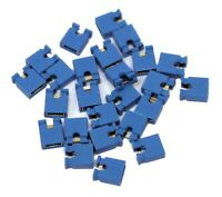 25x 2.54mm Micro Jumper Blue Shorting Link Shunt With Open Test Point