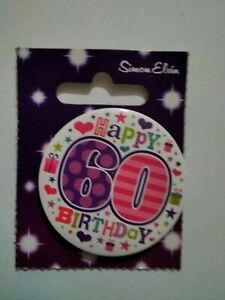 Metal 60th Birthday Party Badge