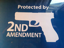 Protected by the 2nd Amendment Vinyl Decal Sticker Tactical  LOT OF 2 decals