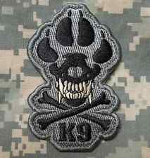 K9 & CROSSBONES KILLER ATTACK POLICE DOG ACU VELCRO® BRAND FASTENER PATCH