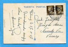 1937 UFFICIO POSTALE SPECIALE 10 P.M.- 27.11.37 -cart.PALMA DI MALLORCA (239557)