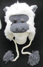 white APE HAT monkey cap SASQUATCH yeti delux cap ADULT gorilla Costume knitwits