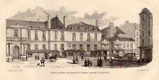 PARIS THEATRE DE L OPERA THEATER SALLE MOLIERE GRAVURE 1878 ENGRAVING