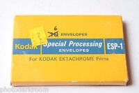 6 Kodak Prepaid Processing Mailer EPS1 Kodachrome Ektachrome Films - VINTAGE D57