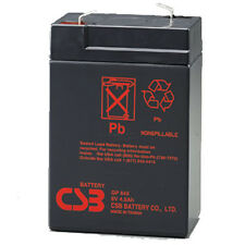 CSB GP 645 F1 Rechargeable Sealed Lead Acid Battery 6V 4.5Ah GP645F1 SLA