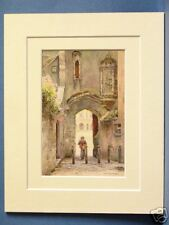 PENNILESS PENNYLESS GATE WELLS CATHEDRAL VINTAGE MOUNTED HASLEHUST PRINT 10X8