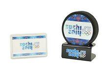 Olympics SOCHI 2014 hockey puck with gift holder New