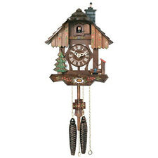 "NEW 9"" Cottage Style  Genuine Black Forest  CUCKOO CLOCK-- Chimney sweep! 22-09P"