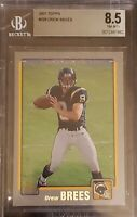 2001 Topps Drew Brees - San Diego Chargers #328 RC BGS 8.5