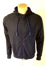 NWT Armani Jeans Felpa Cotton/Elastane Hoody Mens Full Zip Blue Melange XL