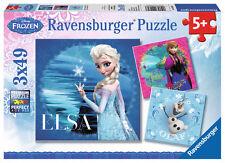 3 x 49 Teile Ravensburger Kinder Puzzle Disney Frozen Elsa, Anna und Olaf 09269
