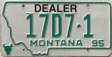 GENUINE American 1995 Montana Dealer USA License Licence Number Plate 17D7 1