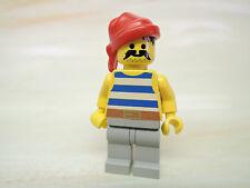 LEGO Figur Pirat blau weiß gestreiftes Hemd rotes Bandana pi072  6259 6261