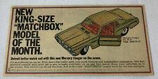 1969 Matchbox ad ~ MERCURY COUGAR