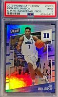 Zion Williamson 2019 Panini The National /299 Silver Pack Rookie Prizm PSA 9