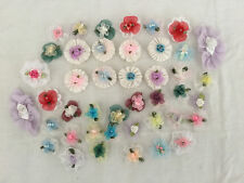 Appliques Trims Floral BowsSilk Organza Flowers F43