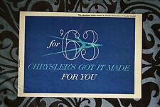 CHRYSLER 1963 brochure sales catalog - English - Canadian Market