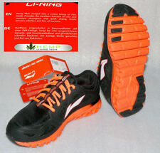 Lining D312 Hanf Tech Damen Schuhe Sneaker ZIGZAG Schwarz Neon Pink-Orange 37