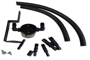 JLT 99-04 Ford Mustang GT Passenger Side Oil Separator 3.0 - Black Anodized