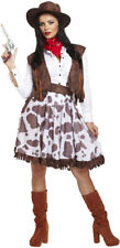 Adult Female Cowgirl Fancy Dress Dressing Up Outfit Costume Hen Do NEW