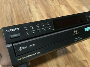 Sony SCD-CE595 Super Audio CD Player Disc Changer Tested Working *Read Please*
