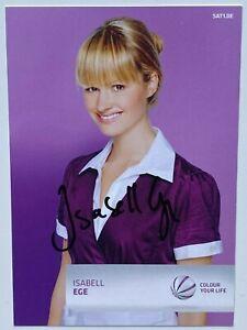 Orig. sign. Autogrammkarte Isabell Ege Schauspielerin TV SAT 1 Sturm der Liebe