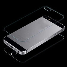 New Quality Front + Back Real Tempered Glass Film Screen Protect for iPhone 5 5S