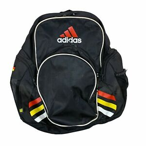 Germany Adidas Backpack Black Book Bag Laptop Carry On Luggage Load Spring