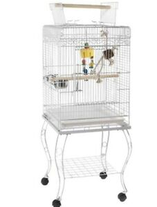 Liberta Gamma Birdcage And Stand For Cockatiels, Parakeets And Small Parrots.