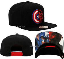 MARVEL AVENGERS CAPTAIN AMERICA HYDRA SPLIT SHIELD LOGO Snapback Ball Cap Hat
