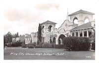 California Ca Postcard Real Photo RPPC c1940s KING CITY Union HIGH SCHOOL