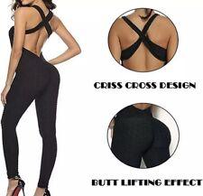 New listing Gymkartel Tik Tok Women Jumpsuit Tummy Control  Push Up Legging Gym Workout MED