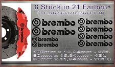 8 Stück Brembo Bremssattel Aufkleber Sticker Hitzebeständige Honda Audi Br-8P2S