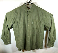 Columbia Sportswear - Green White Plaid - Long Sleeve Shirt - Mens Large