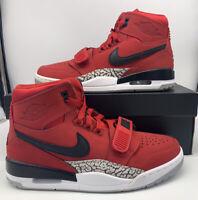 Nike Air Jordan Legacy 312 Toro Varsity Red Black Mens Size AV3922-601